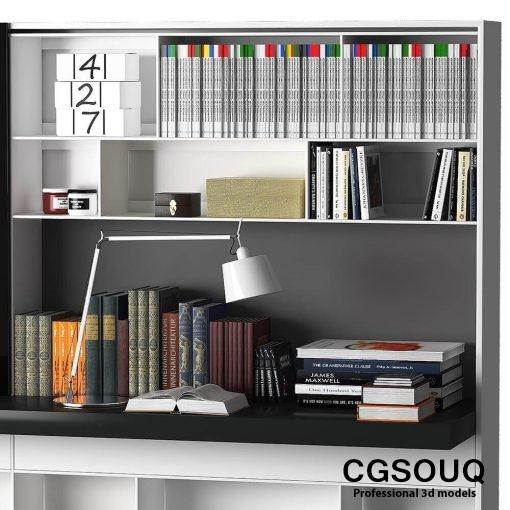 B&B MAXALTO 4 Bookcase 3D model (4)