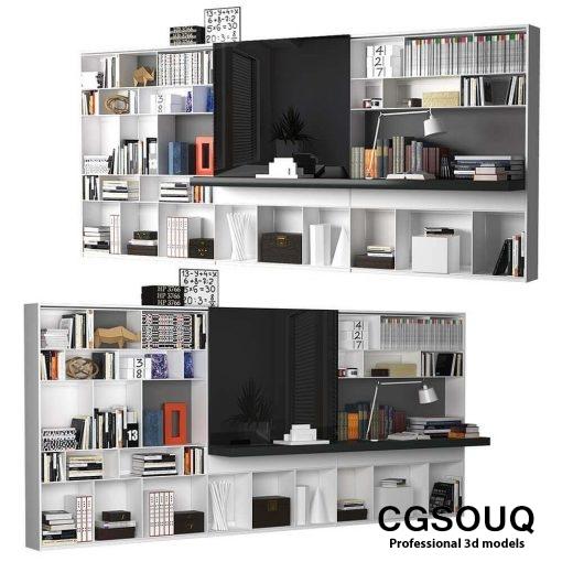 B&B MAXALTO 4 Bookcase 3D model (5)