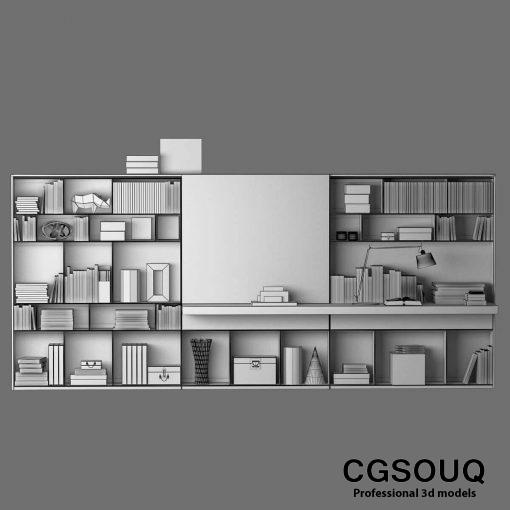 B&B MAXALTO 4 Bookcase 3D model (6)