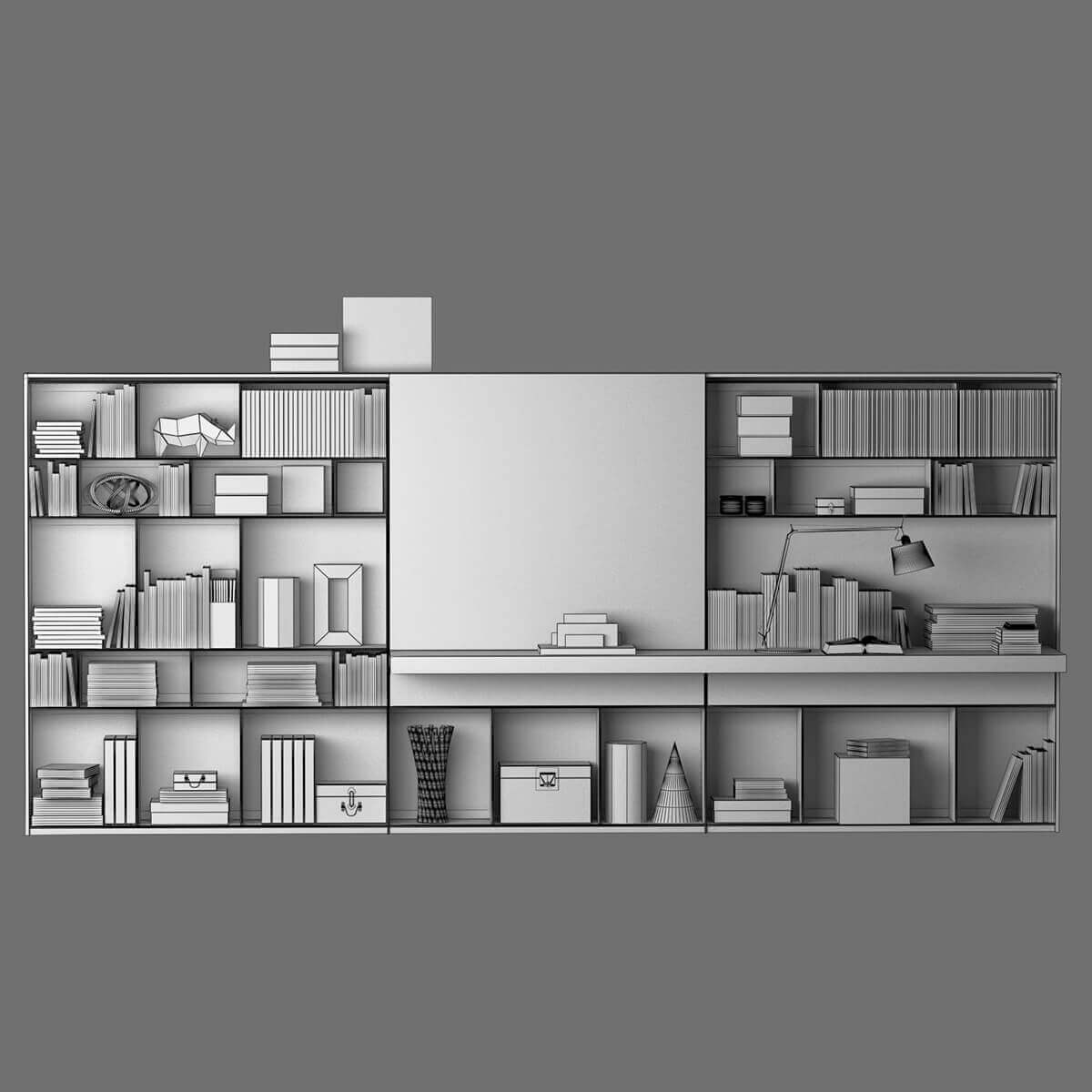 B&B MAXALTO 4 Bookcase 3D model (6)