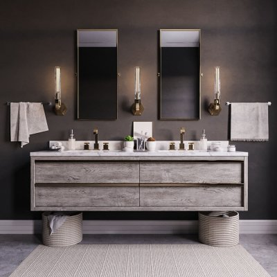 BEZIER DOUBLE FLOATING VANITY 3D model