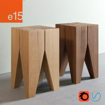 Backenzahn E15 Stool 3D Model