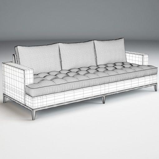 Baker Bennet Sofa 3D Model 2