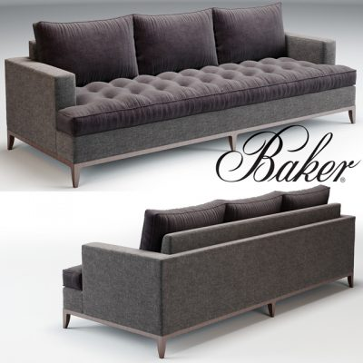 Baker Bennet Sofa 3D Model