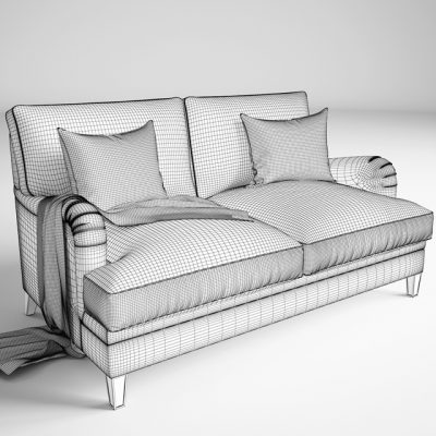 Baker Churchill Loveseat Sofa 3D Model