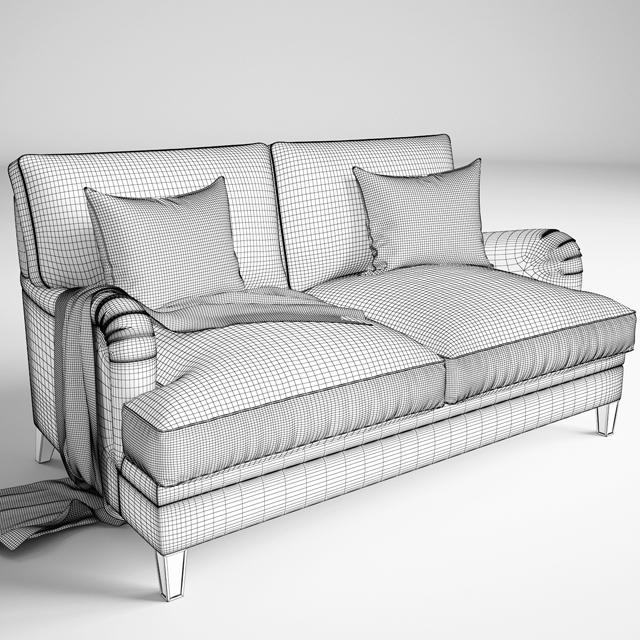 Baker Churchill Loveseat Sofa 3D Model 2