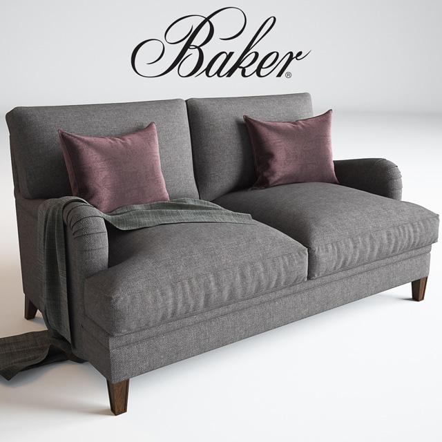 Baker Churchill Loveseat Sofa 3D Model