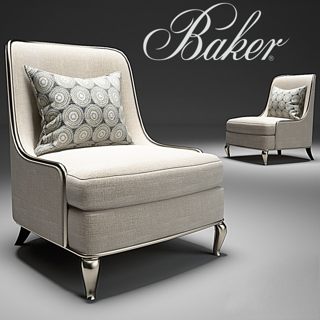 Baker Empress Chair 3D Model