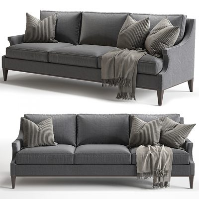 Baker Holden Extended Sofa 3D Model
