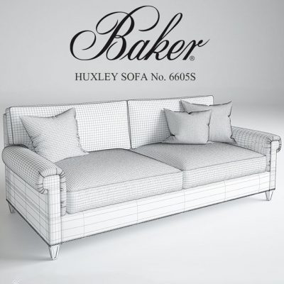 Baker Huxley Sofa 3D Model