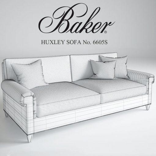 Baker Huxley Sofa 3D Model 2