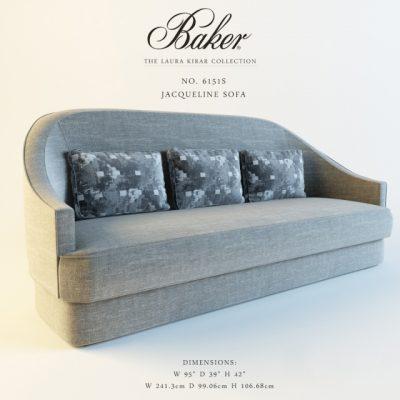 Baker Jacqueline-61515 Sofa 3D Model