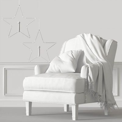 Baker Juliette Loose Armchair 3D model 1