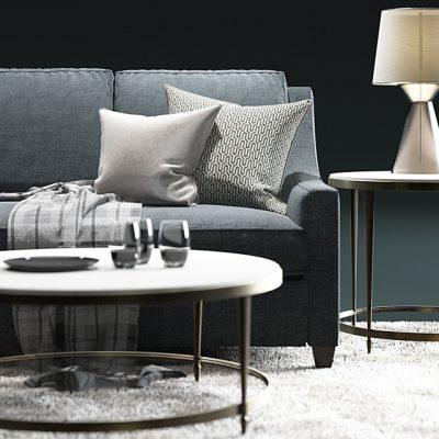 Baker Malory Sofa Set 3D Model 2