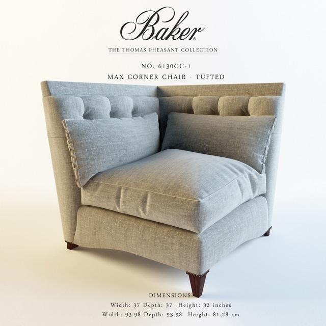 Baker Max Corner Chair 3D Model