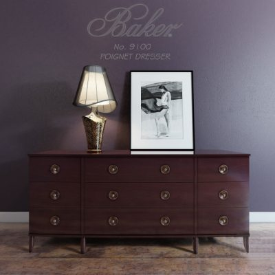 Baker Poignet Dresser No. 9100 3D Model