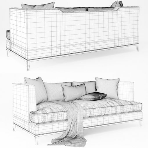 Baker Presidio Sofa No. 6729S 3D Model 2