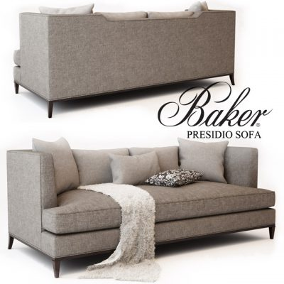 Baker Presidio Sofa No. 6729S 3D Model