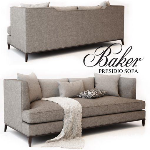 Baker Presidio Sofa No. 6729S 3D Model