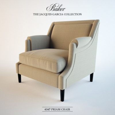 Baker Priam Armchair 3D Model