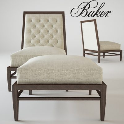 Baker Repartee Slipper Chair 3D Model