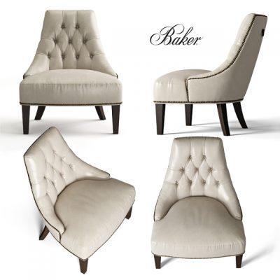 Baker Salon Lounge Chair 3D Model