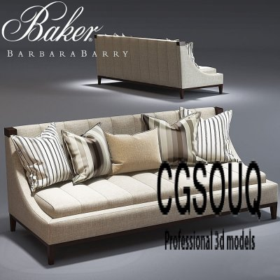 Baker Tipton Tufted Sofa 3D model