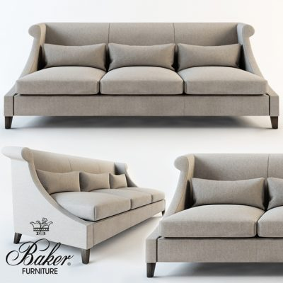 Baker Villa Sofa 3D Model