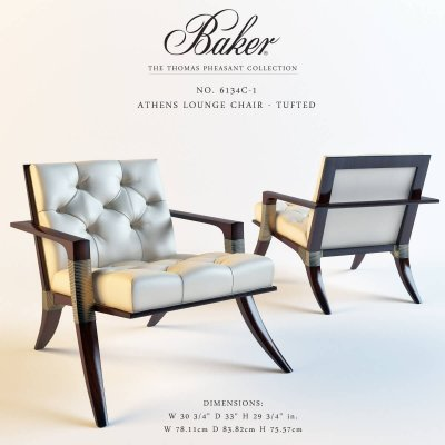 Baker Athens lounge chair 3D model