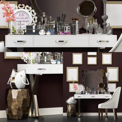 Barcelona Design Dressing Table 3D Model