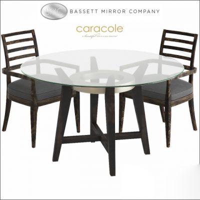 Bassett Mirror Thoroughly Modern Elston Dining Table & Chair 3D Model