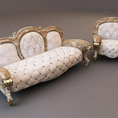 Bastex Tiffany Sofa Set 3D Model
