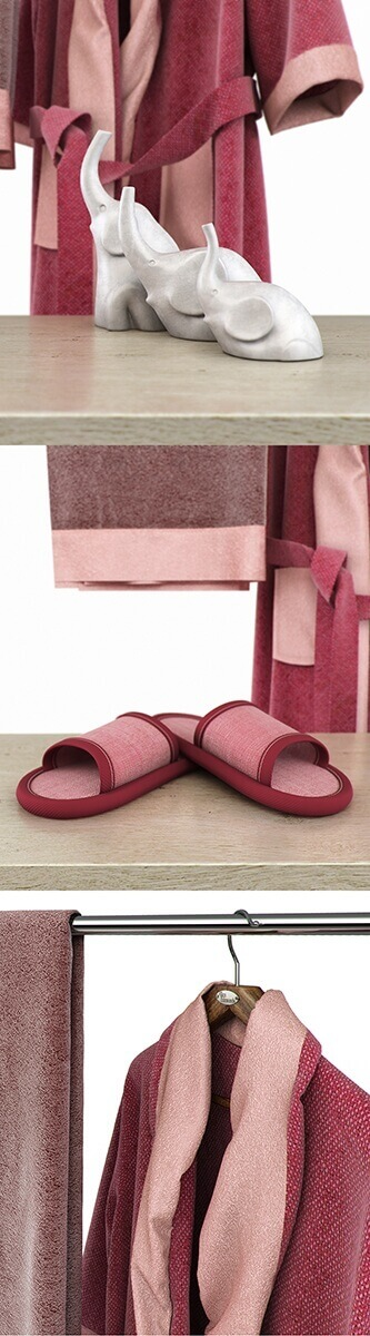 Bathroom accessories towel bathrobe 3d model 2