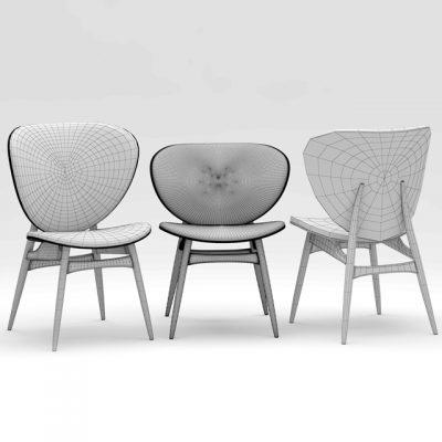 Baxter Alvaro Alma Table & Chair 3D Model