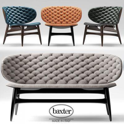 Baxter Dalma Sofa & Armchair 3D Model