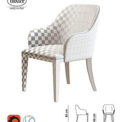 Baxter Decor Armchair 3D Model