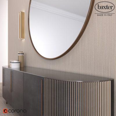 Baxter Decor Plisse Low Sideboard 3D Model