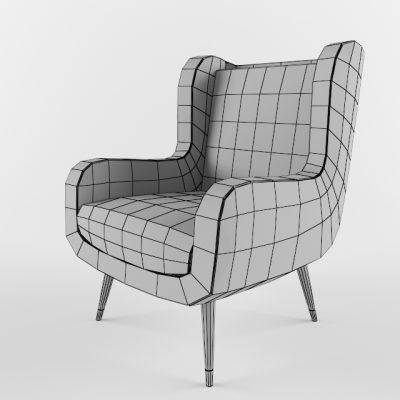 Baxter Dolly Armchair 3D Model