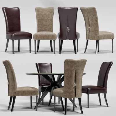 Baxter Levante & Guggie – Table & Chair 3D Model