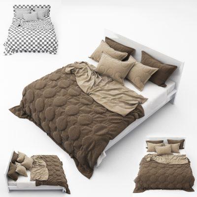 Bed Set-12 3D Model