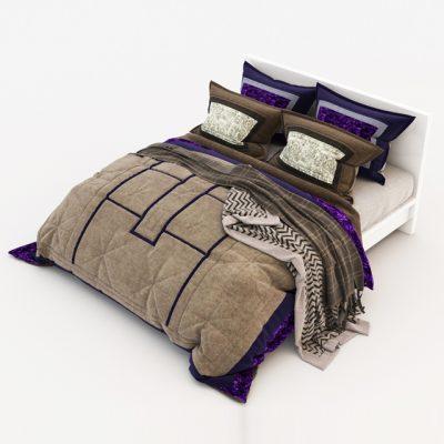 Bed Set-15 3D Model