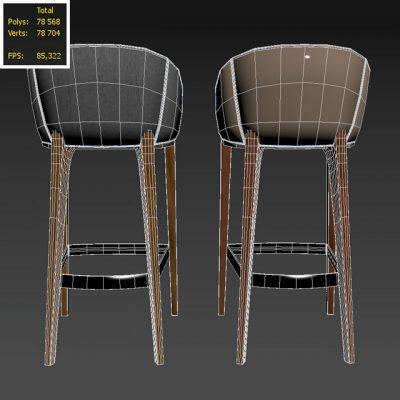 Bellevue Bar Stool 3D Model