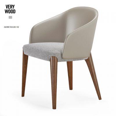 Bellevue Very Wood Armchair 3D Model