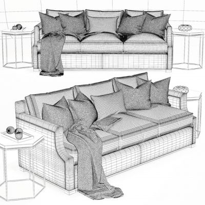 Belvedere Skeleton Sofa 3D Model 2