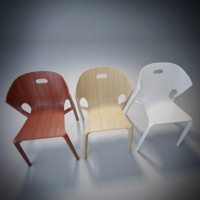 Benjamin Hubert – Pelt Chair 3D Model