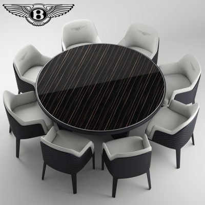 Bentley Kendal Table & Chair 3D Model