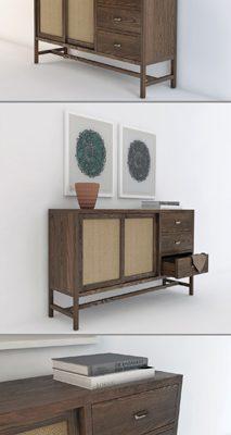 Berkeley Storage Cabinet 3D Model