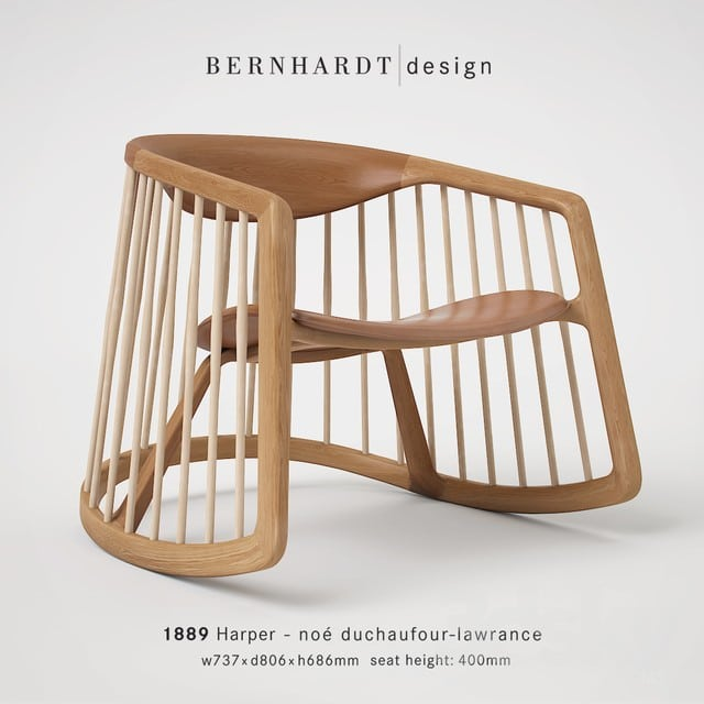 Bernhardt Harper Chair 3D Model