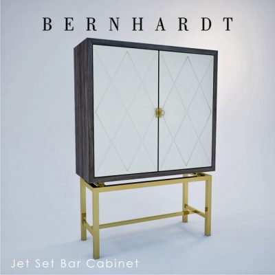 Bernhardt Jet Set Bar Cabinet 3D Model 2