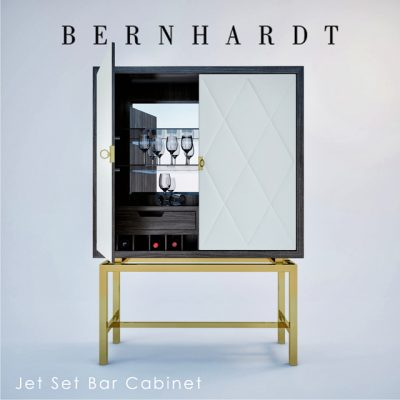 Bernhardt Jet Set Bar Cabinet 3D Model